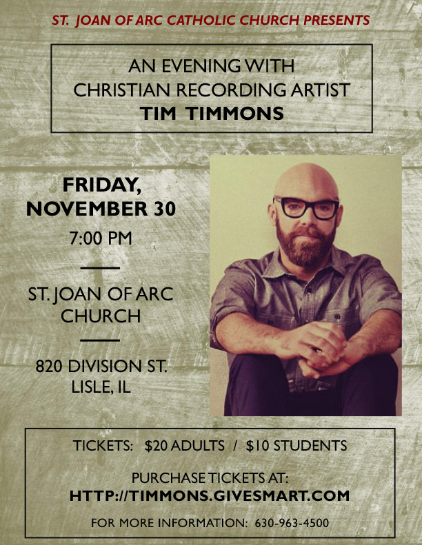 Tim Timmons Concert - November 30, 2018